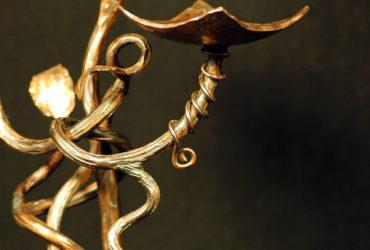 Forged Copper Vine Candleholder