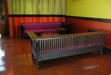 Hand forged custom steel couch