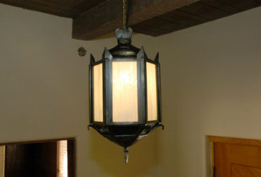 Custom steel hanging lamp
