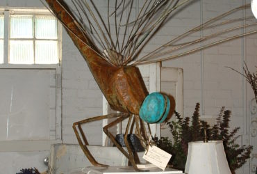 Large steel and Cooper dragonfly sculpture
