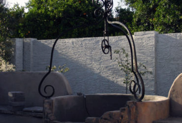Hand forged French style water well