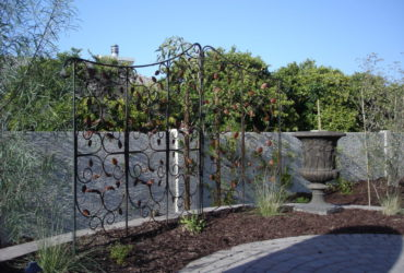 Hand forged steel leaves privacy screen